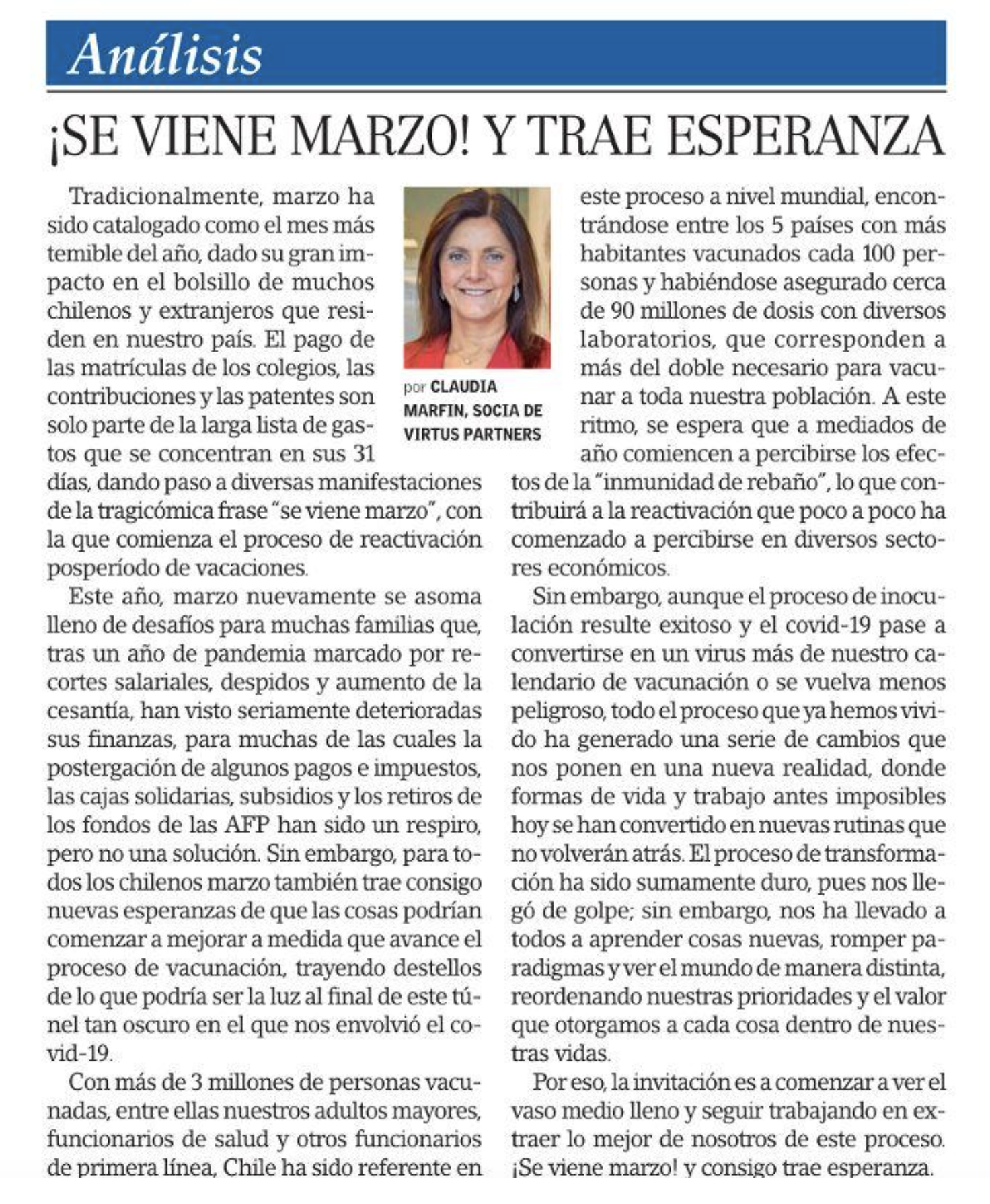 202103. Claudia Marfin El Mercurio